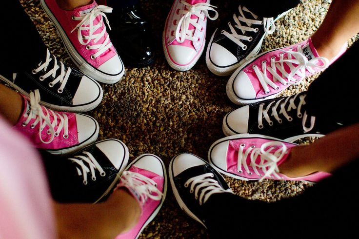 Our wedding party, converse all sorta of yes but Gray for the boy and purple for  the girls!
