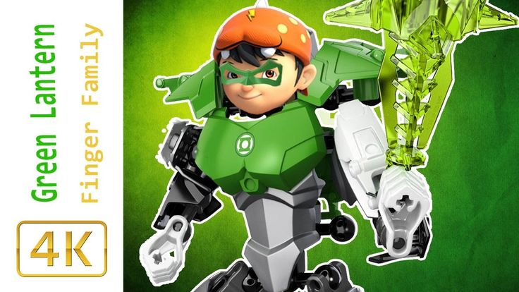 BoBoboi Galaxy Transforms Into LEGO Green Lantern Finger Family Song Bob...