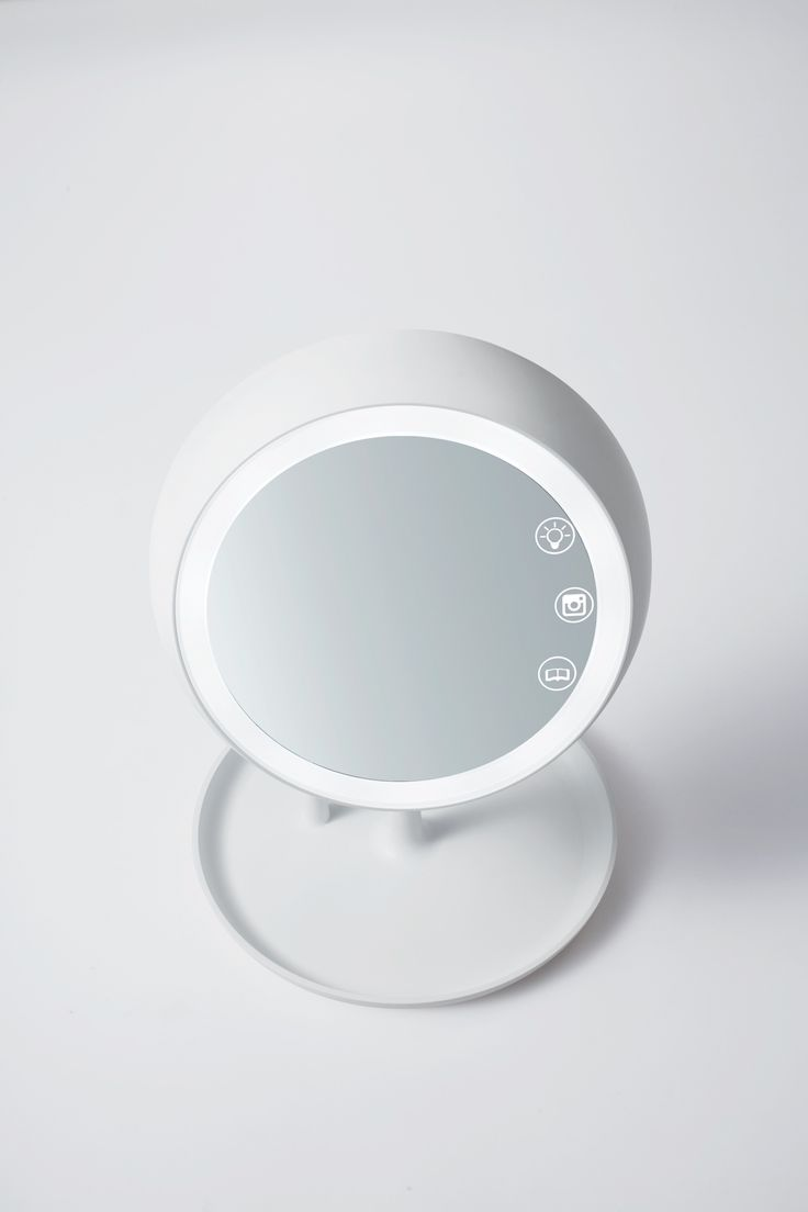 the JUNO smart mirror. Helps create the perfect lighting for makeup application.