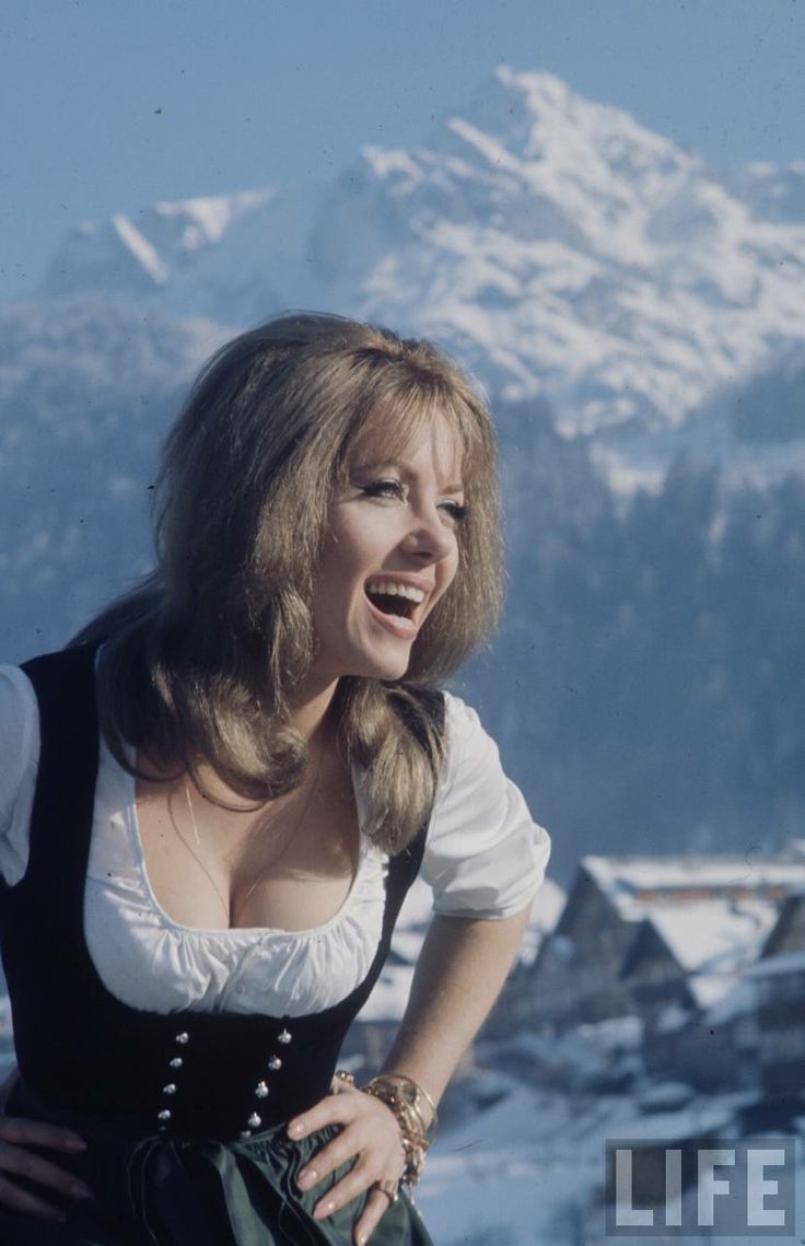 Ingrid Pitt in Where Eagles Dare, behind the scenes.