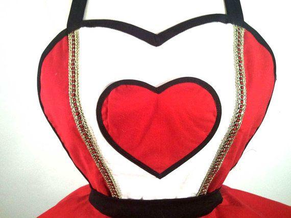 Delantal Retro reina de corazones Pin Up por SassyFrasCollection