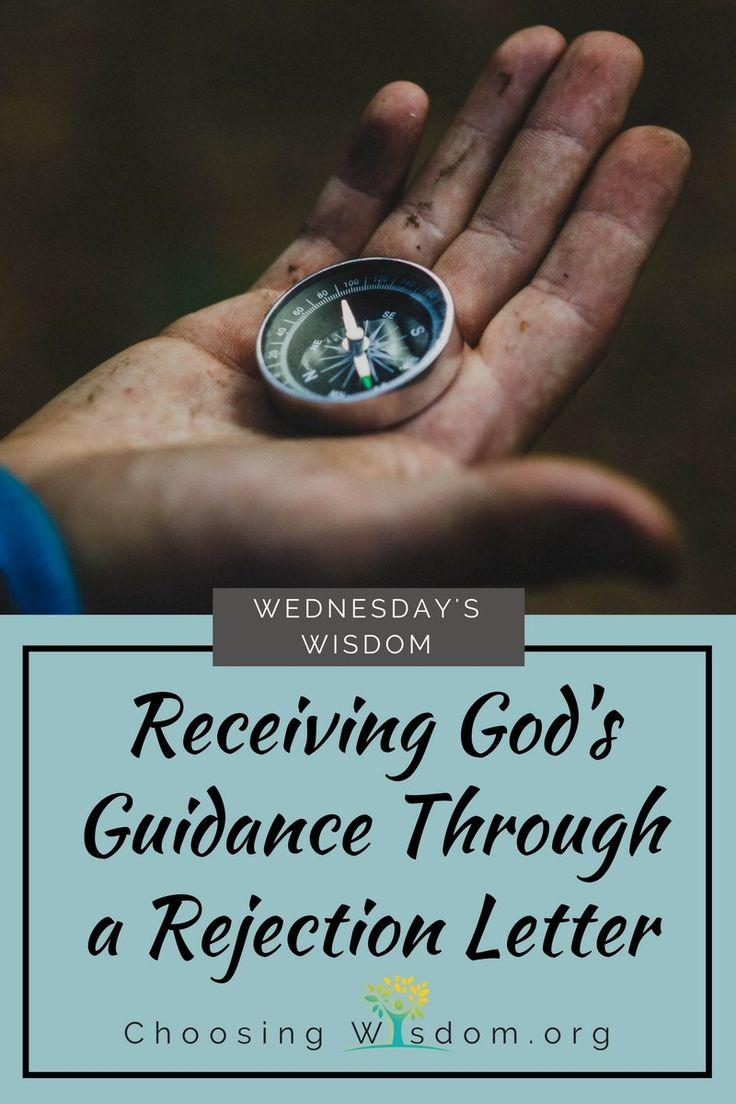 Receiving God's Guidance Through a Rejection Letter Gods