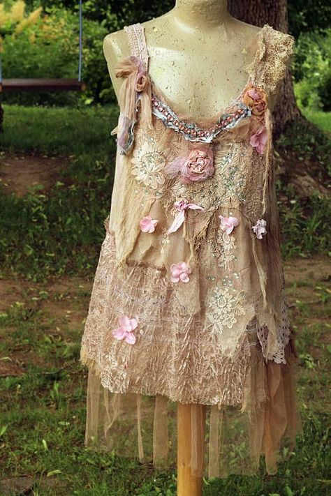 Nostalgia top in blush and cream shabby chic whimsy