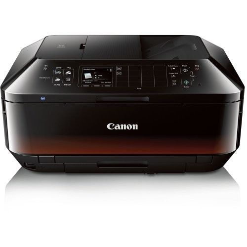 Wireless Color Photo Printer Scanner Copier Copy Scan Fax Black Home Office  #Canon
