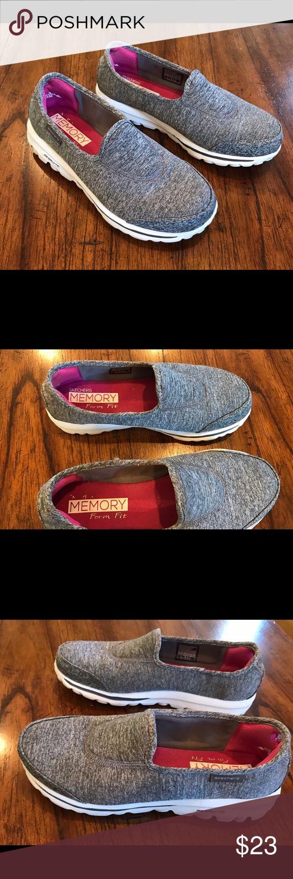 Sketchers Go Walk Gray 6.5 EUC worn once size 6.5 gray Skechers Shoes Sneakers