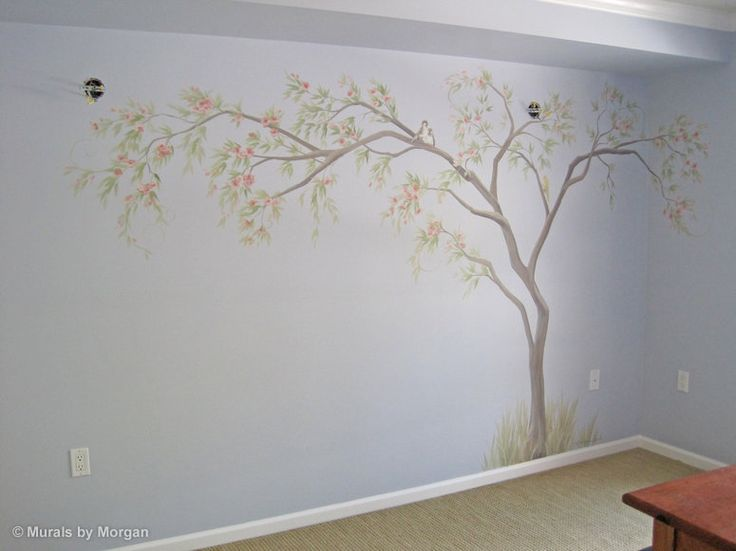 painted wall murals tree wall murals hand painted walls painted trees. Black Bedroom Furniture Sets. Home Design Ideas