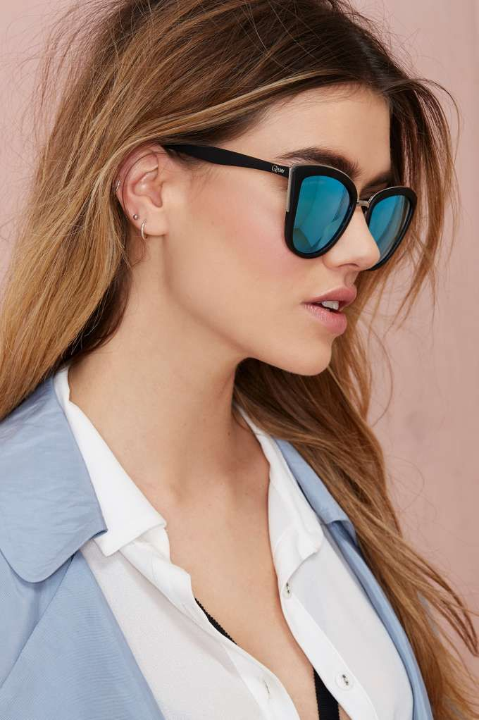 Black Mirrored Rounded Sunglasses Pretty Little Thing qHZmAU