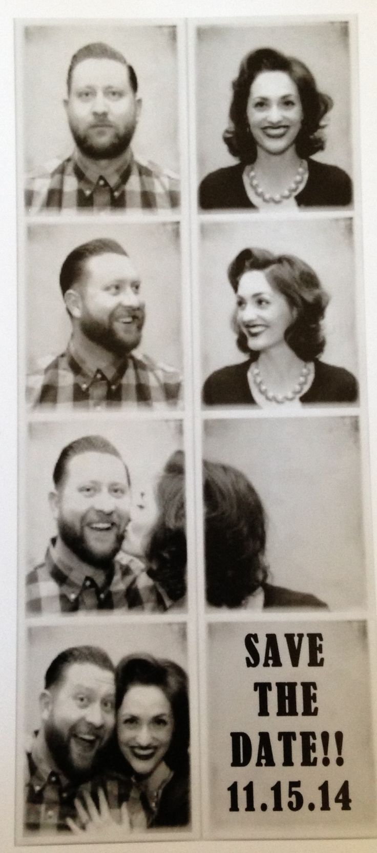 Funky Photobooth Save the Date #polaroid #savethedate #photobooth