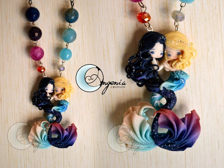 lovers day and night by ~AngeniaC on deviantART - Beautiful handcrafted (not painted) jewelry.  Etsy site opening soon.