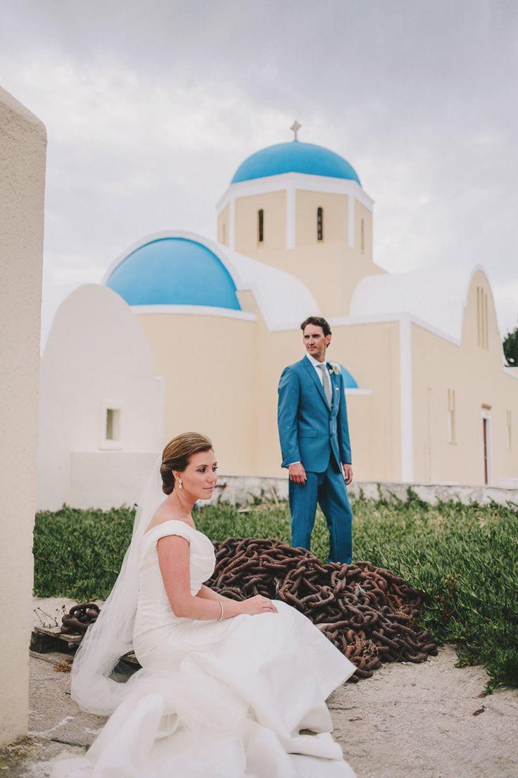 Collin+Elizabeth A destination wedding in Santorini