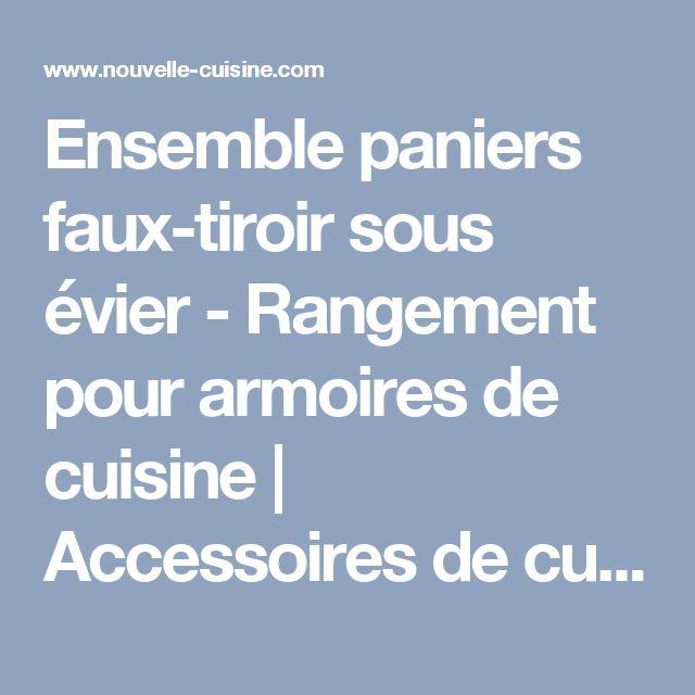Best 25 rangement sous evier ideas on pinterest - Rangement sous evier ikea ...