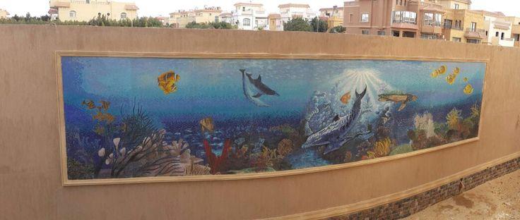 The aquarium mosaic wall