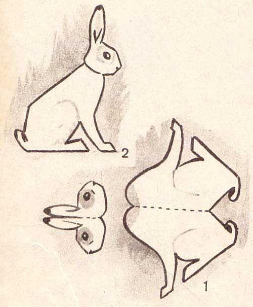 Объемные картинки заяц такая, что