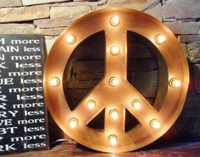 Símbolo de la paz con luces: Tienda Deco C