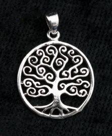 Pendentif  Arbre de Vie-Celtique-Bijou en Argent 925  -Tree of life