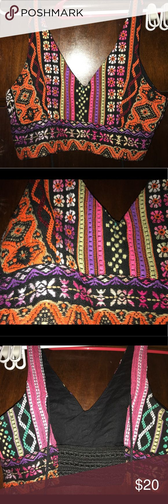 Aztec crop top Perfect crop top for art or music festival Urban Outfitters Tops Crop Tops