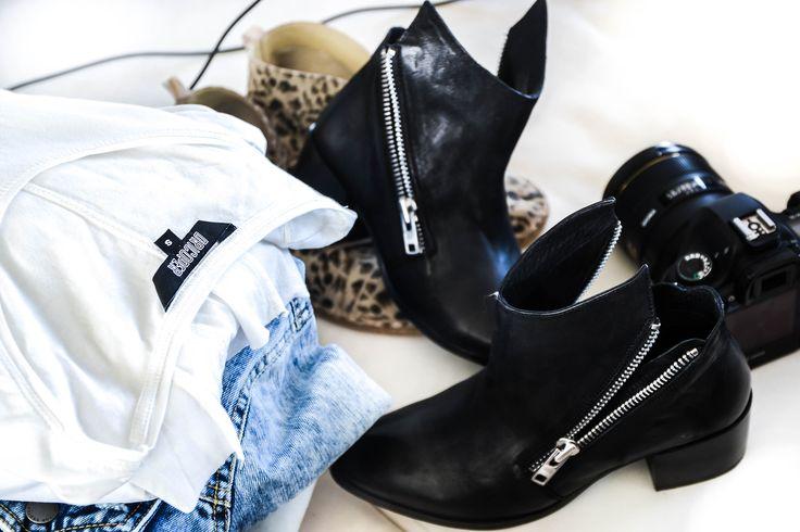 ANGELA Black Leather Ankle Boot  Photo via @bohotailor