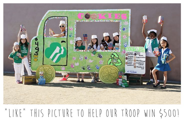 2015 GIRL SCOUTS BLING YOUR BOOTH CHALLENGE: Cookie Truck made from 99% recycled materials Girl Scouts of Southern Nevada, Troop #495 VOTE FOR US (Click for link!)