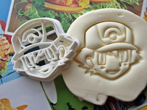 Pokemon Red Game Ash Ketchum Character Cookie Cutter / by Smiltroy