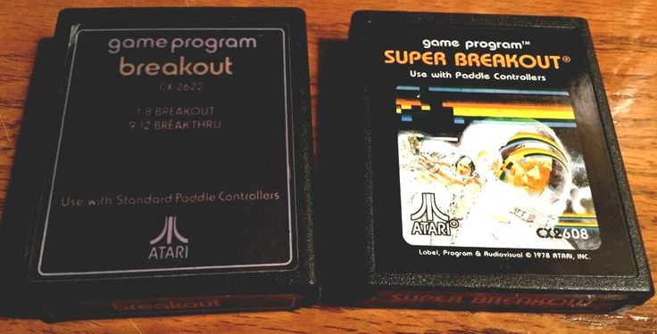 #atari 2600 games breakout & super breakout with manuals from $9.99