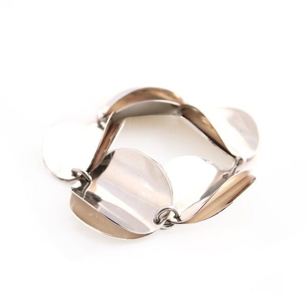 "From www.hopea20.com - Tone Vigeland ""Rose"" Bracelet - Silver"