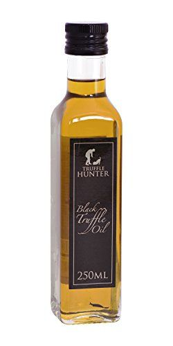 Super Concentrated Black Truffle Oil TruffleHunter's own gourmet recipe - the finest oils in the world Large 8.45 Oz bottle - designed for use in professional kitchens TruffleHunter Chef's Black Truffle Oil - 250ml(Super Concentrated)