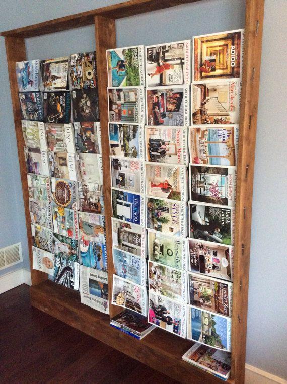 BarnStyle Magazine Rack Large by LuxuryBarnStyle on Etsy