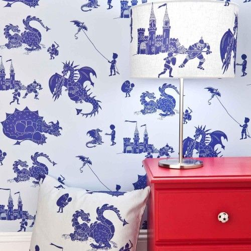 Knights & Dragon wallpaper from Paper Boy