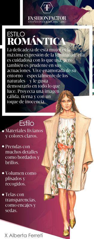 La mujer Romántica es delicada y cuidadosa de los detalles. Conoce que distingue a este estilo de los demás y las últimas tendencias en Fashion Factor.