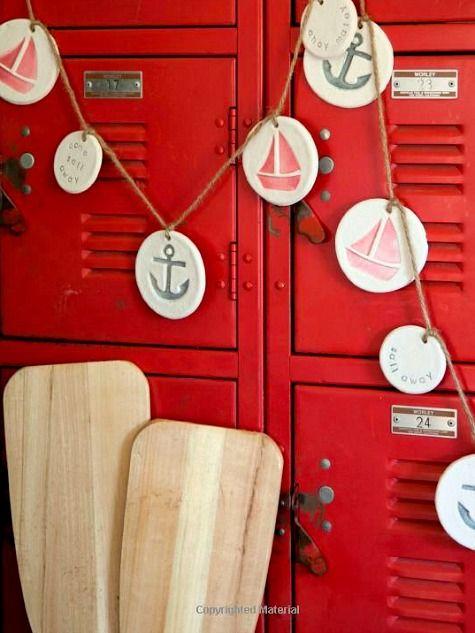 Nautical Craft Ideas from the book Coastal Crafts: http://www.completely-coastal.com/2015/07/coastal-crafts-book-by-Cynthia-Shaffer.html