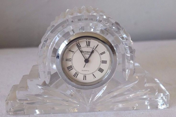 Waterford Crystal Small Mantel Clock Needs Battery #Waterford