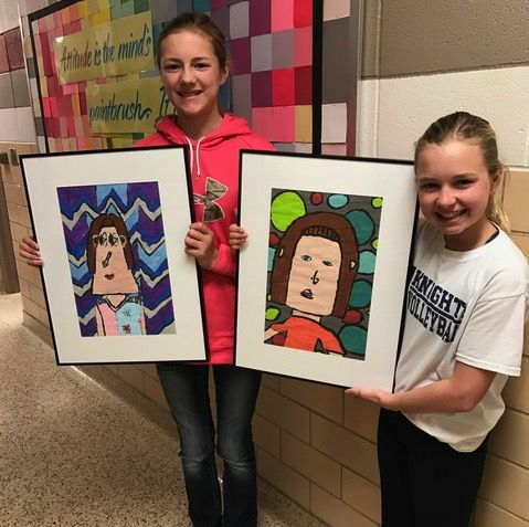 Aubrey (Director's Choice) and Kaityn's artwork was on display at the Sioux City Art Center for the Youth Art Month Exhibit. Congratulations!
