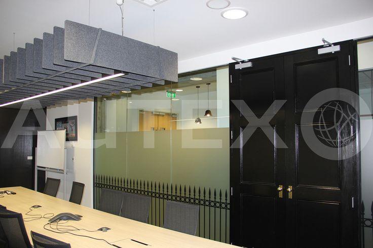 Autex Acoustics - Quietspace® Lattice, Trapezium - Colour: Flatiron - Commercial Office Space