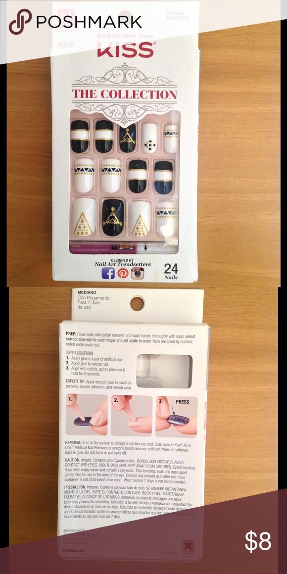Kiss Collection Nails (Unopened!) NWT | Square nails, Media makeup ...