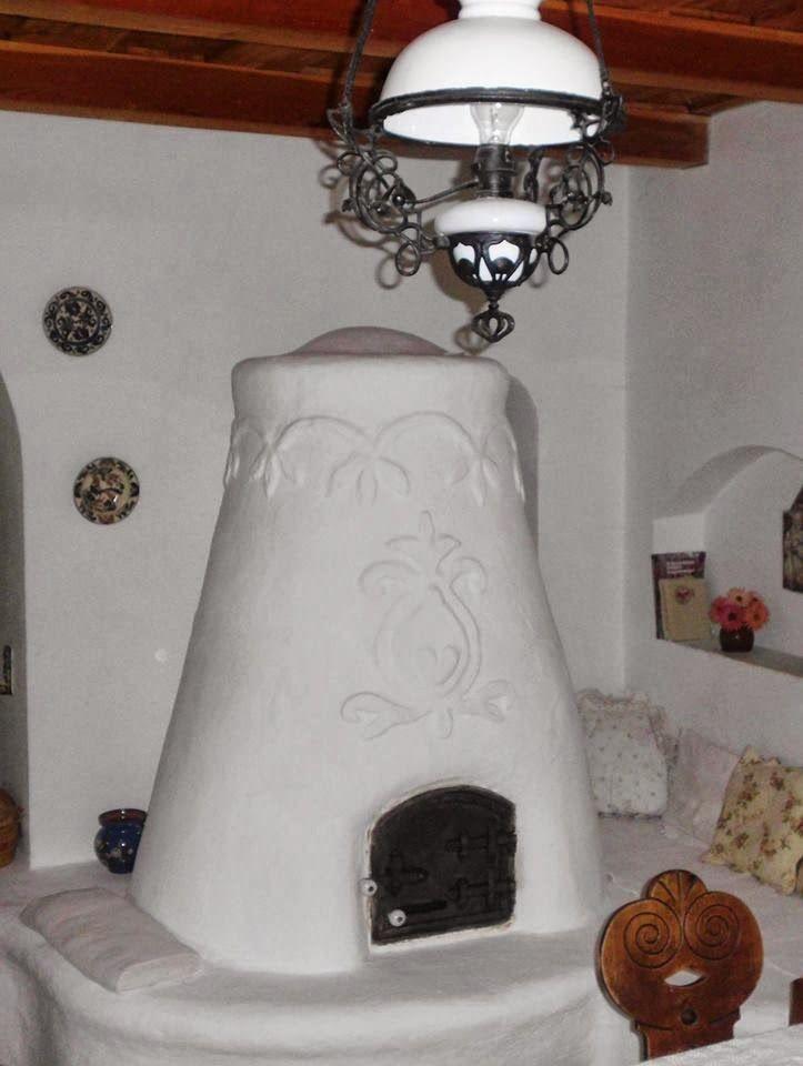 Traditional Hungarian cristate furnace - búbos kemence