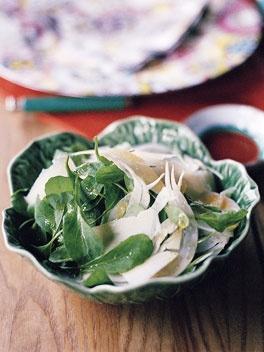 Side: Rocket, fennel and parmesan salad