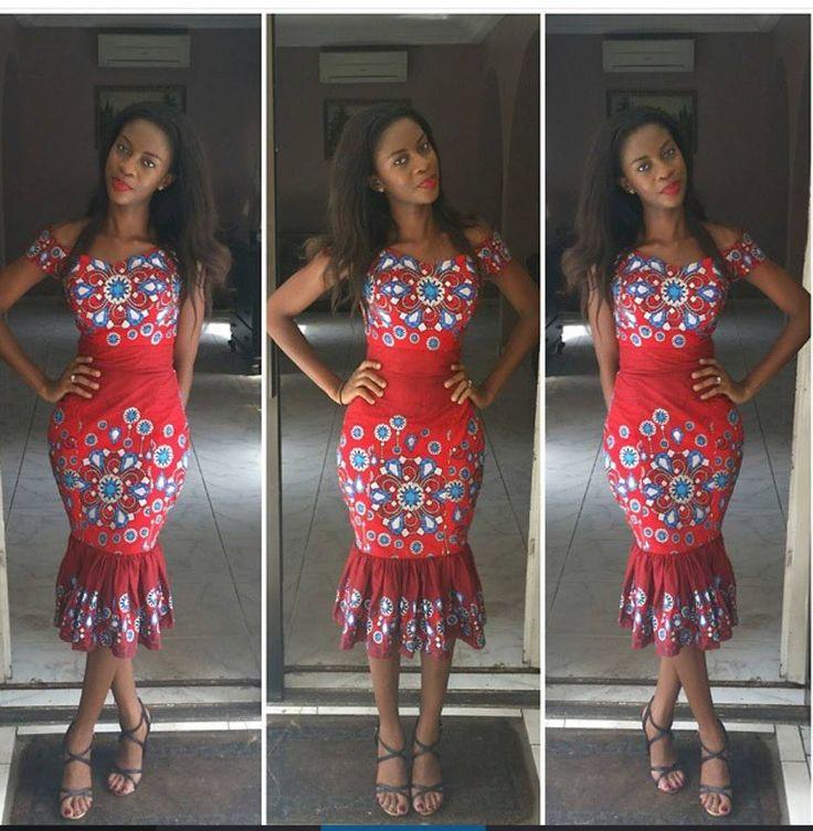 Beautiful Ankara Gown Design - DeZango Fashion Zone ~African fashion, Ankara, kitenge, African women dresses, African prints, Braids, Nigerian wedding, Ghanaian fashion, African wedding ~DKK