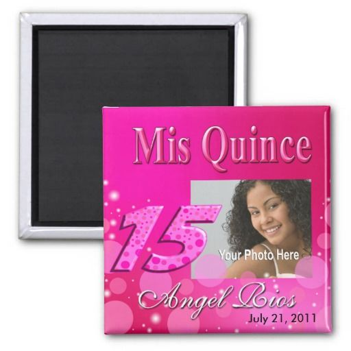 Mis Quince I Photo Party Magnet