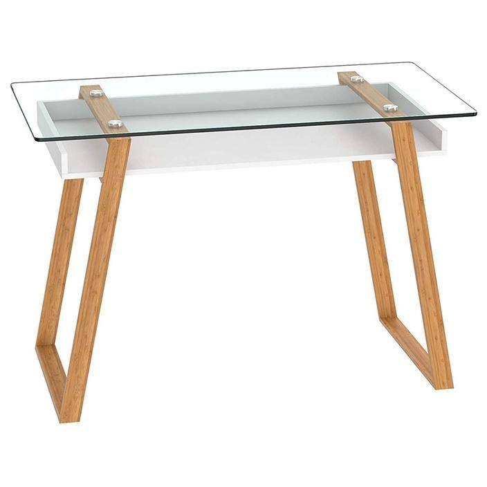 Writing Desk Massimo Contemporary Desk Combining Glass And Wood Tinys Home Us Contemporary Desk Modern Wood Desk Best Desk