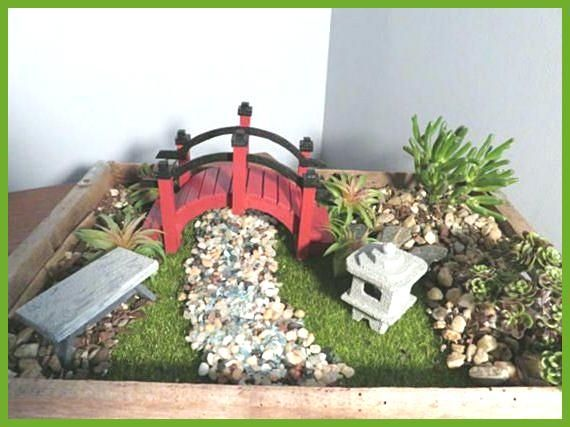 Fairy Garden Miniature Japanese Garden Decor Bridge Pagoda