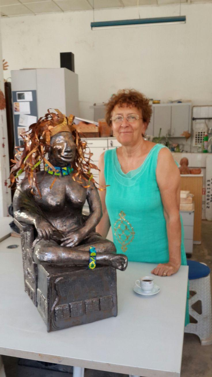 Seramik çalışmam;  Maya Ay Tanrıçası Ix Chel.