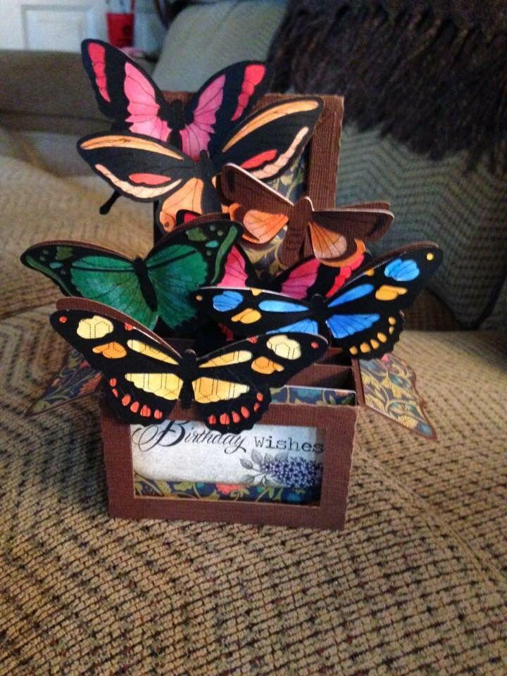 Butterflies box card butterfly box fancy