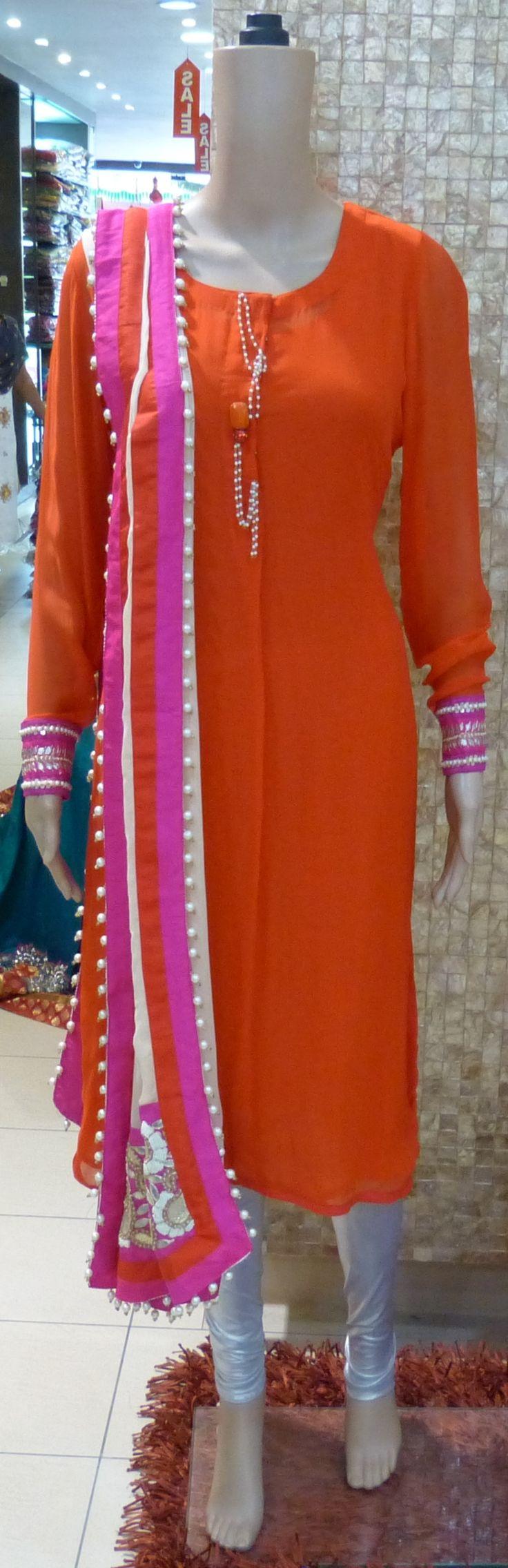 Orange Color Designer #Suit