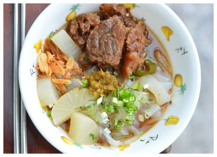Indonesian Medan Food: Ngau Lam / Kwe Tiau Kuah Daging Sapi / Cantonese Braised Beef