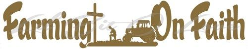 Farming On Faith Vinyl Decal Praying Farmer, Cross,Tractor Sticker | LilBitOLove - Housewares on ArtFire