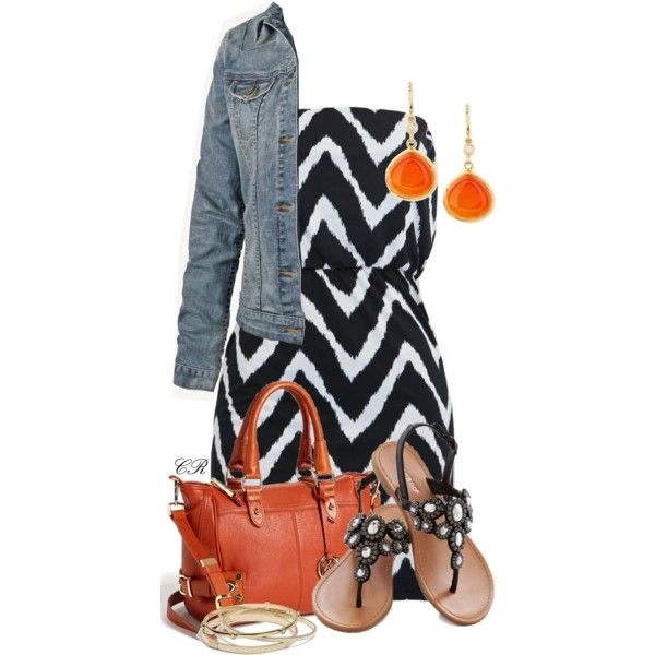 """""""Chevron Tube Dress"""" by colierollers on Polyvore"""