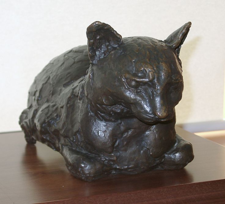 """Study of a cat in bronze"" Sir Jacob Epstein"