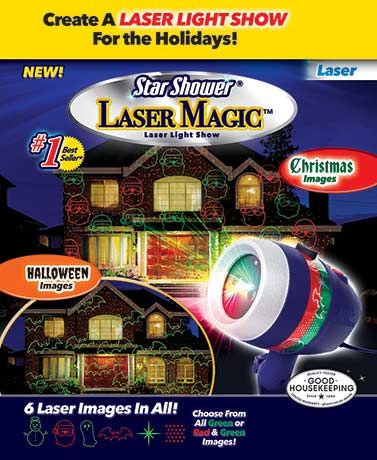 Star Shower Laser Magic shows just how passionate your are about the fall and winter holidays. Stake the light into your yard and watch as it puts a seasonal light show on display. It features 6 designs with 2 color options: all green or green and red, a