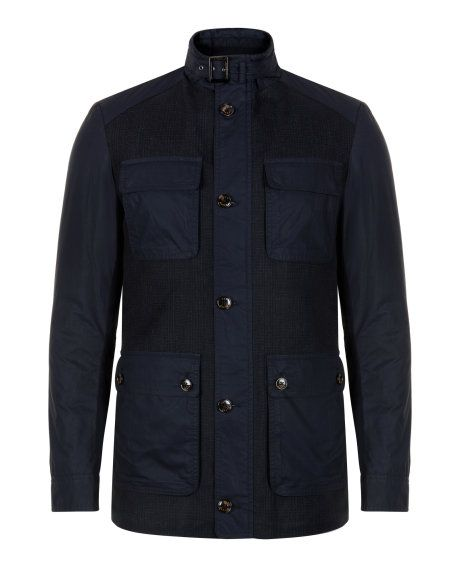 Four pocket coat - Navy | Jackets & Coats | Ted Baker