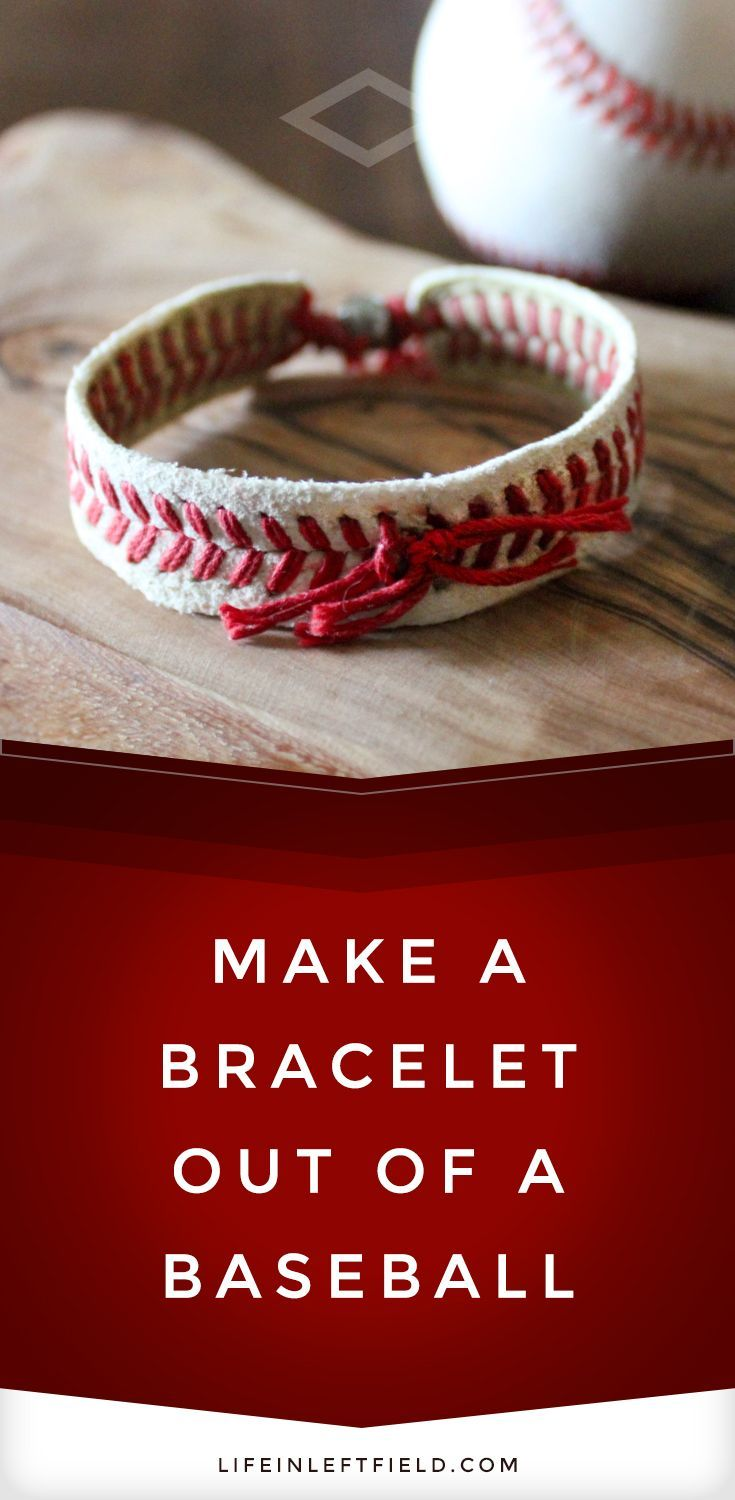 Step-by-step tutorial on how to make a baseball bracelet. It is easy to make and super cute to wear. Show your love of the game!